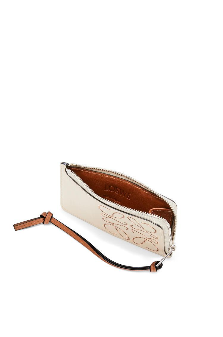 LOEWE Tarjetero-monedero distintivo en piel de ternera Avena Suave/Bronceado pdp_rd