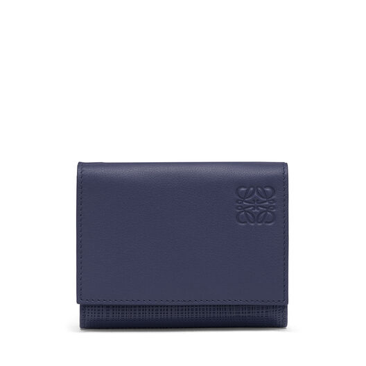 LOEWE Trifold Wallet Navy Blue front