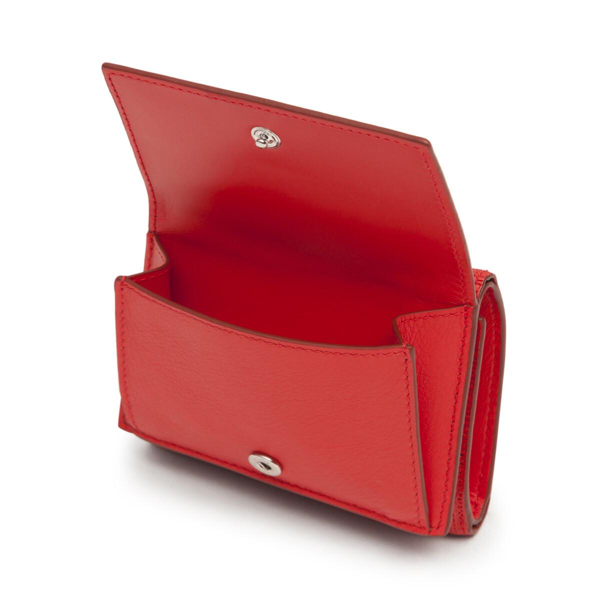 LOEWE Linen Trifold Wallet 緋紅 front