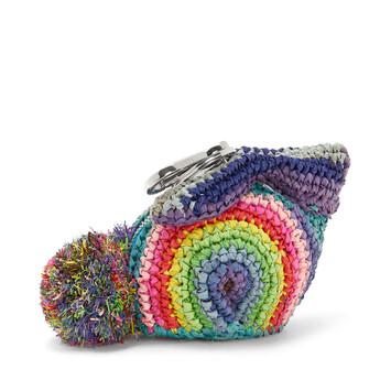 LOEWE Paula Rainbow Bunny Charm Multicolor front