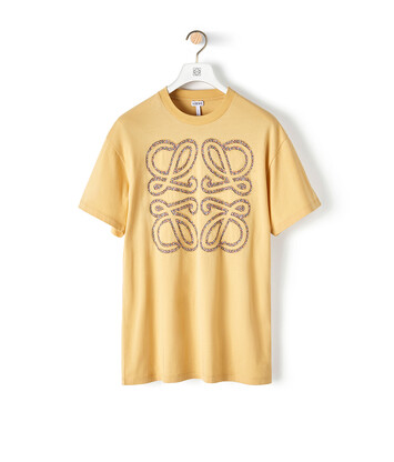 LOEWE Flower Anagram Patch T-Shirt Light Yellow front
