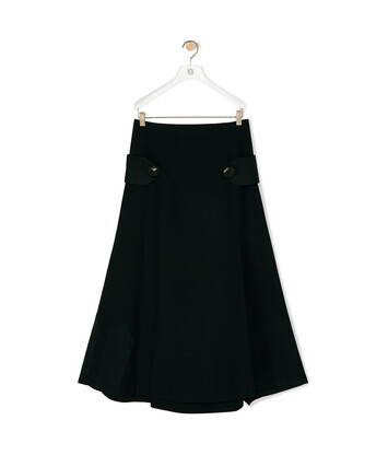 LOEWE Oversize Button Skirt Black front