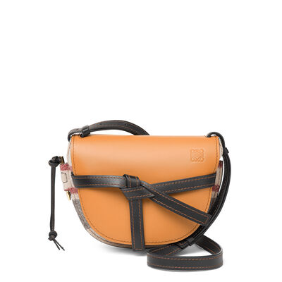 LOEWE Gate Stripes Small Bag Multicolor/Amber/Black front