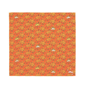 LOEWE 90X90 Paula Print Scarf Orange front