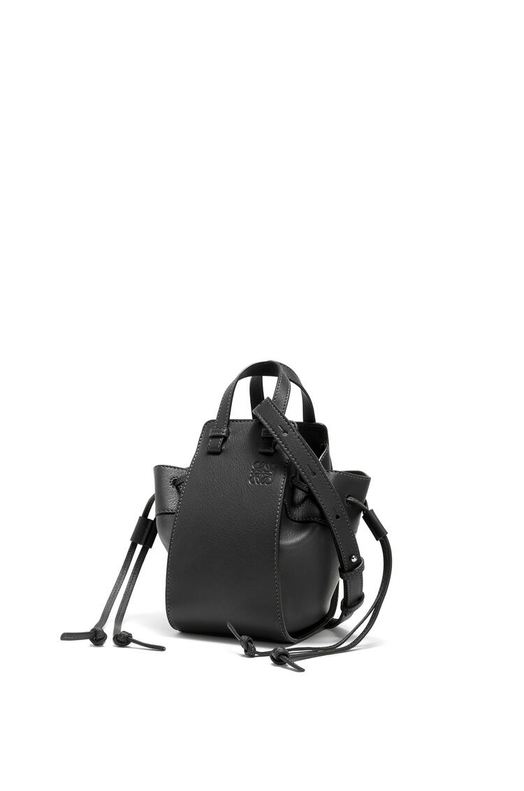 LOEWE Mini Hammock Drawtring Bag In Nappa Calfskin Black pdp_rd
