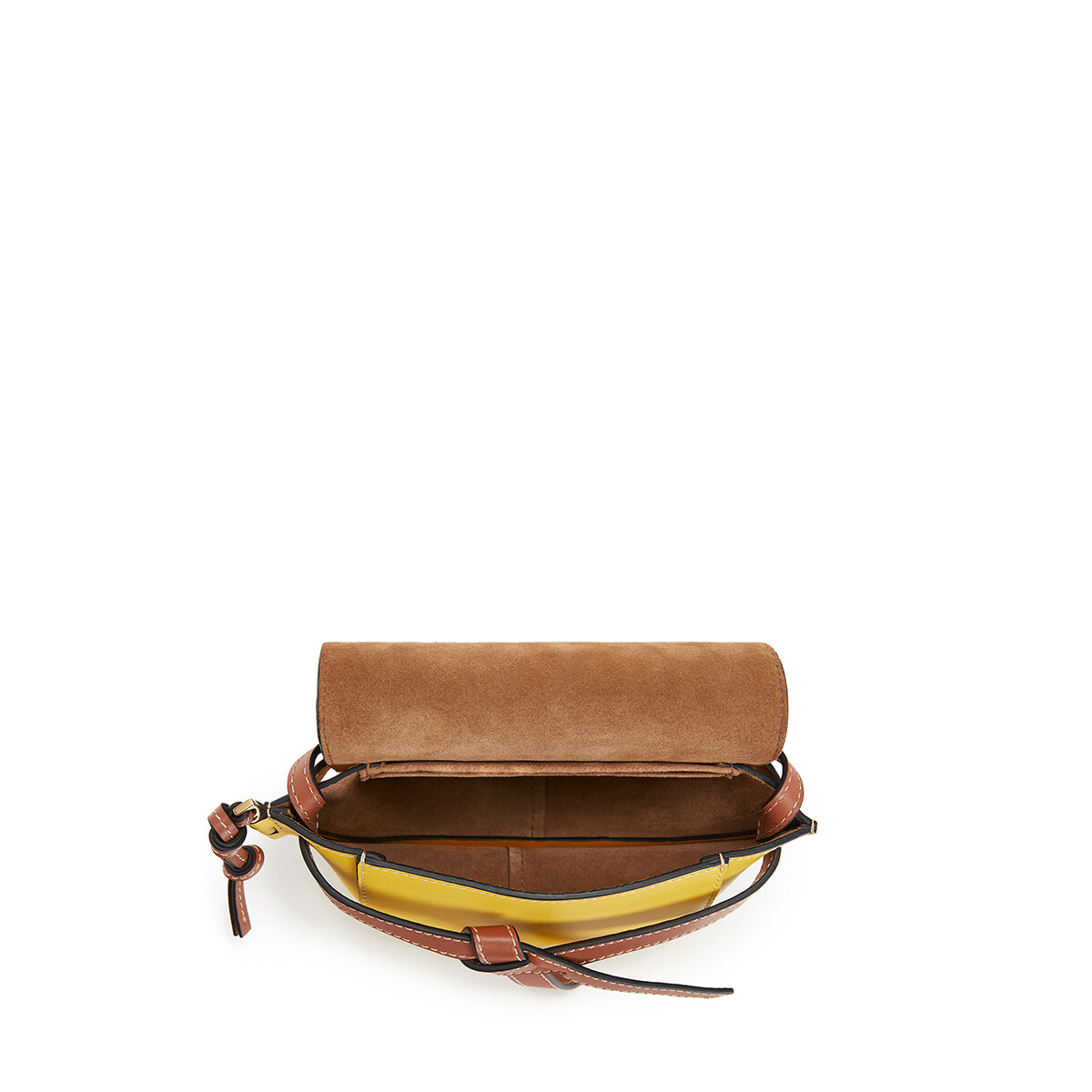 LOEWE Gate Floral Mini Bag Yellow front
