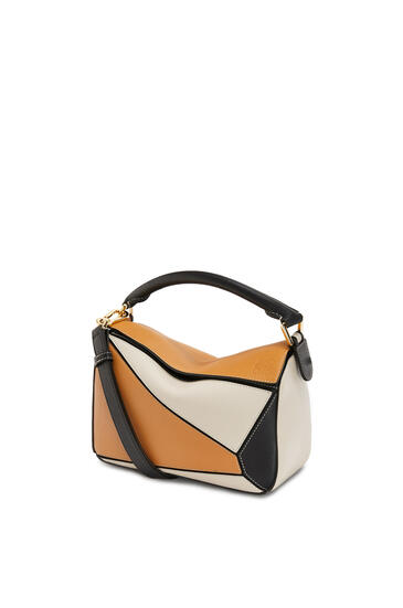 LOEWE Small Puzzle Bag In Classic Calfskin Amber/Light Oat pdp_rd
