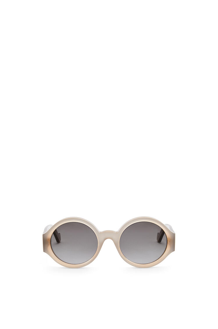 LOEWE Chunky round sunglasses in acetate Milky Light Grey pdp_rd