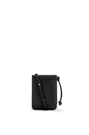 LOEWE Flat Gusset Crossbody bag in smooth calfskin Black pdp_rd