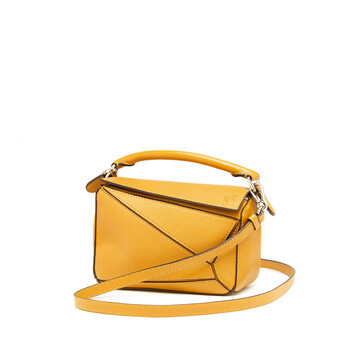LOEWE Puzzle Mini Bag Yellow Mango front