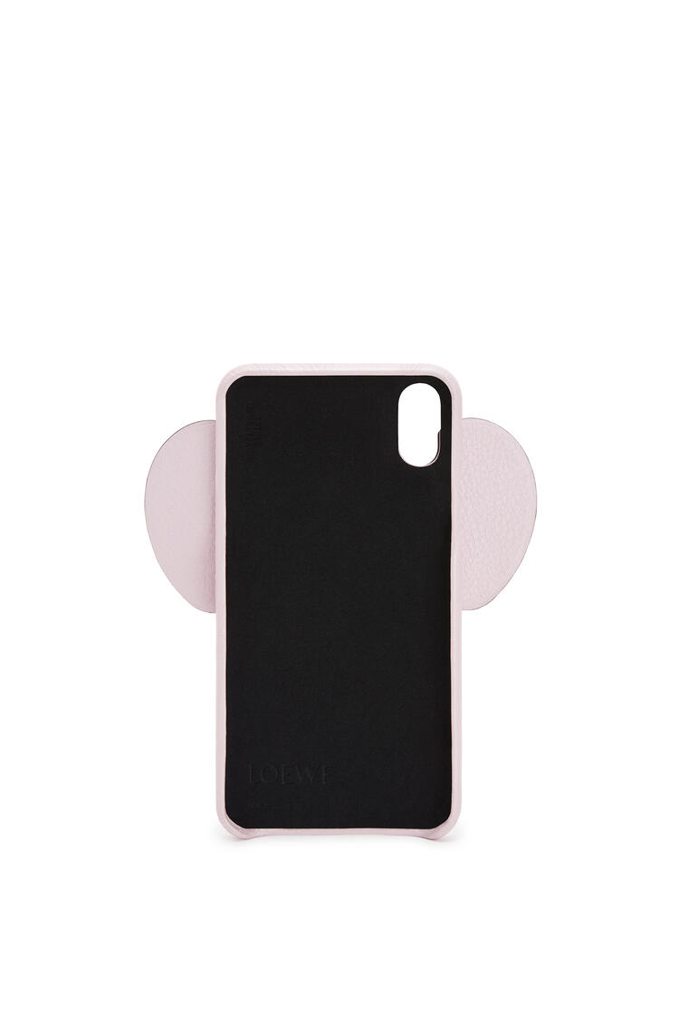 LOEWE Elephant cover for iPhone XS Max in pearlized calfskin Icy Pink pdp_rd