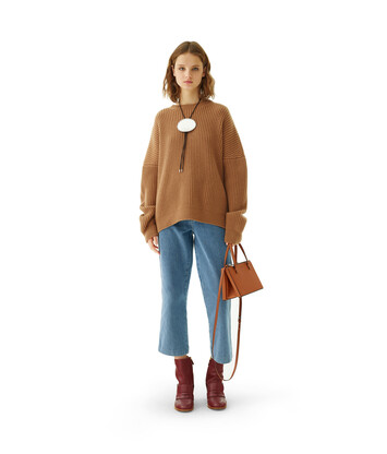 LOEWE Sweater Camel front