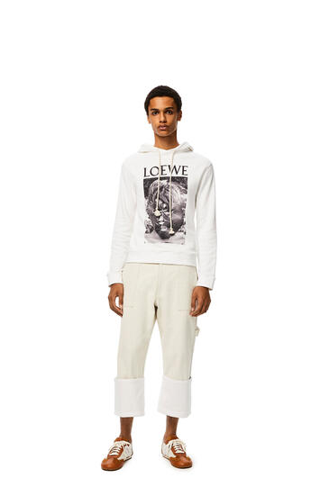 LOEWE Lord of the flies hoodie in cotton White pdp_rd