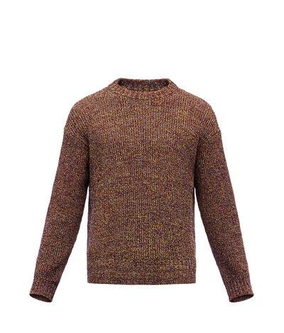 LOEWE Crewneck Sweater Melange Navy Blue front