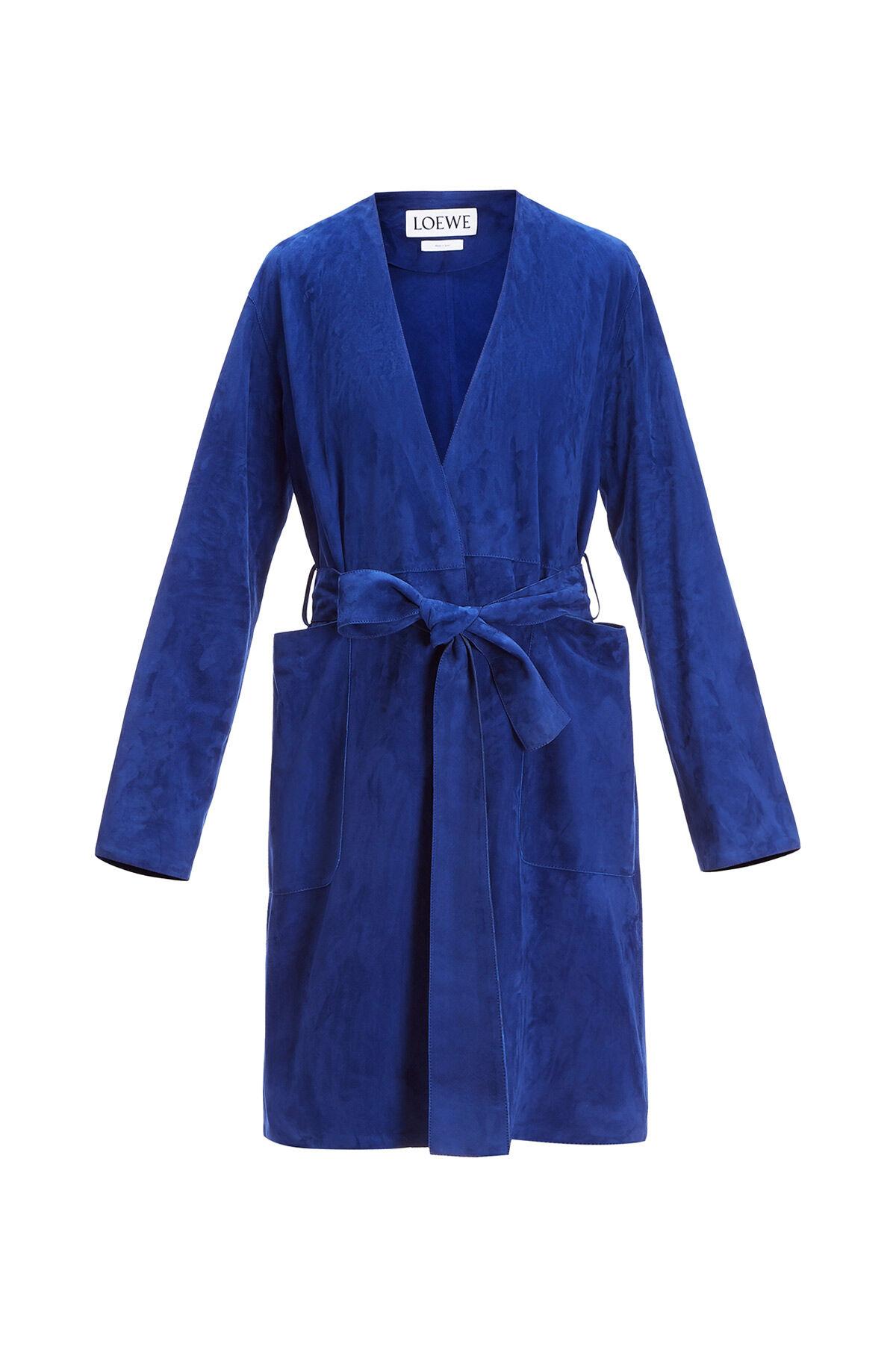 LOEWE Abrigo Azul Royal Oscuro all