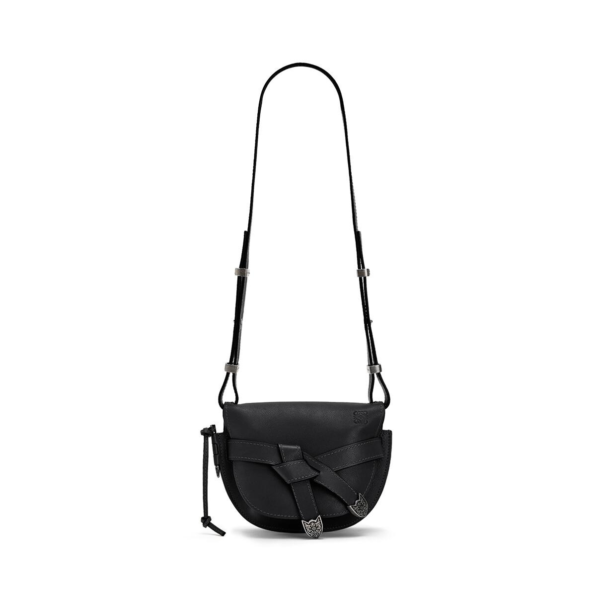 LOEWE Gate Western Small Bag Black front