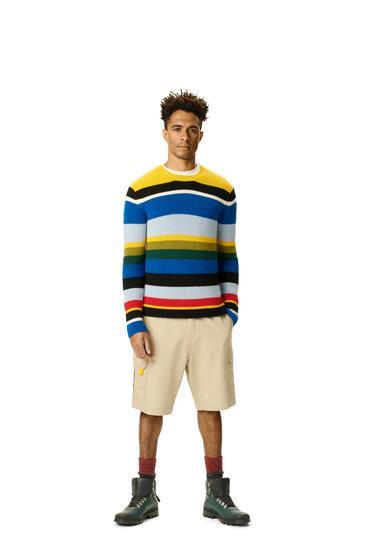 LOEWE Sweater in striped wool Multicolor pdp_rd