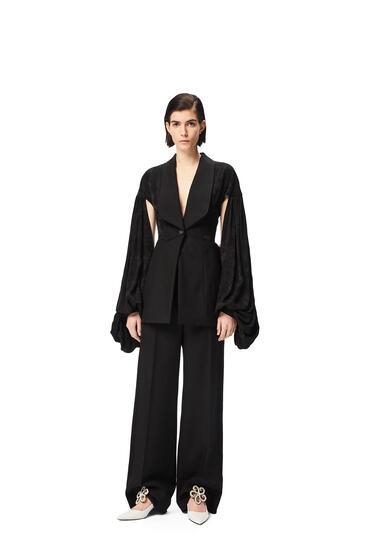 LOEWE Tuxedo trousers in wool and silk Black pdp_rd
