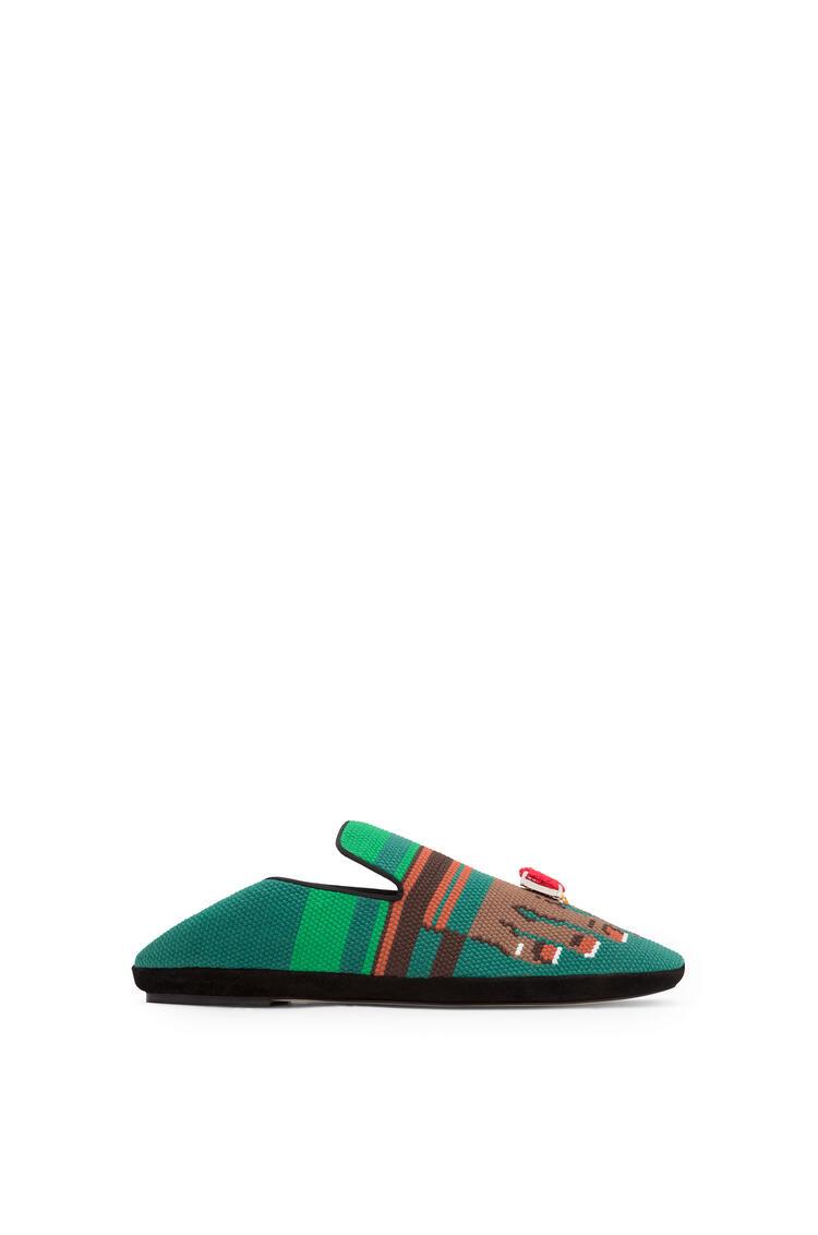 LOEWE Slipper en piel de ternera Verde/Marron pdp_rd
