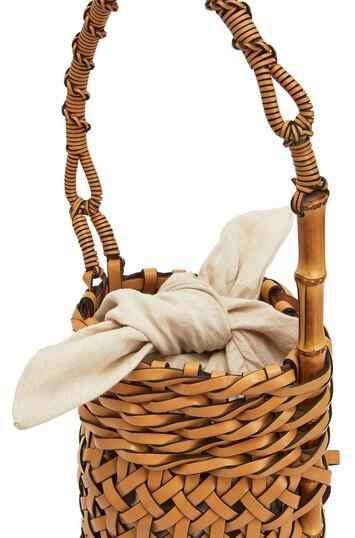 LOEWE Bucket Pin Bag Light Caramel front