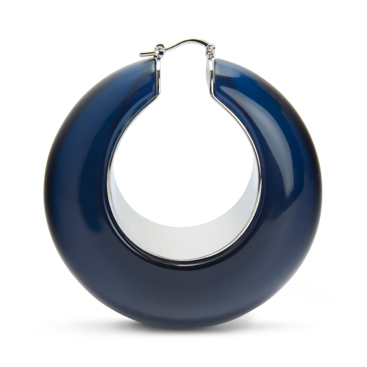 LOEWE Loop Earrings Dark Navy Blue front