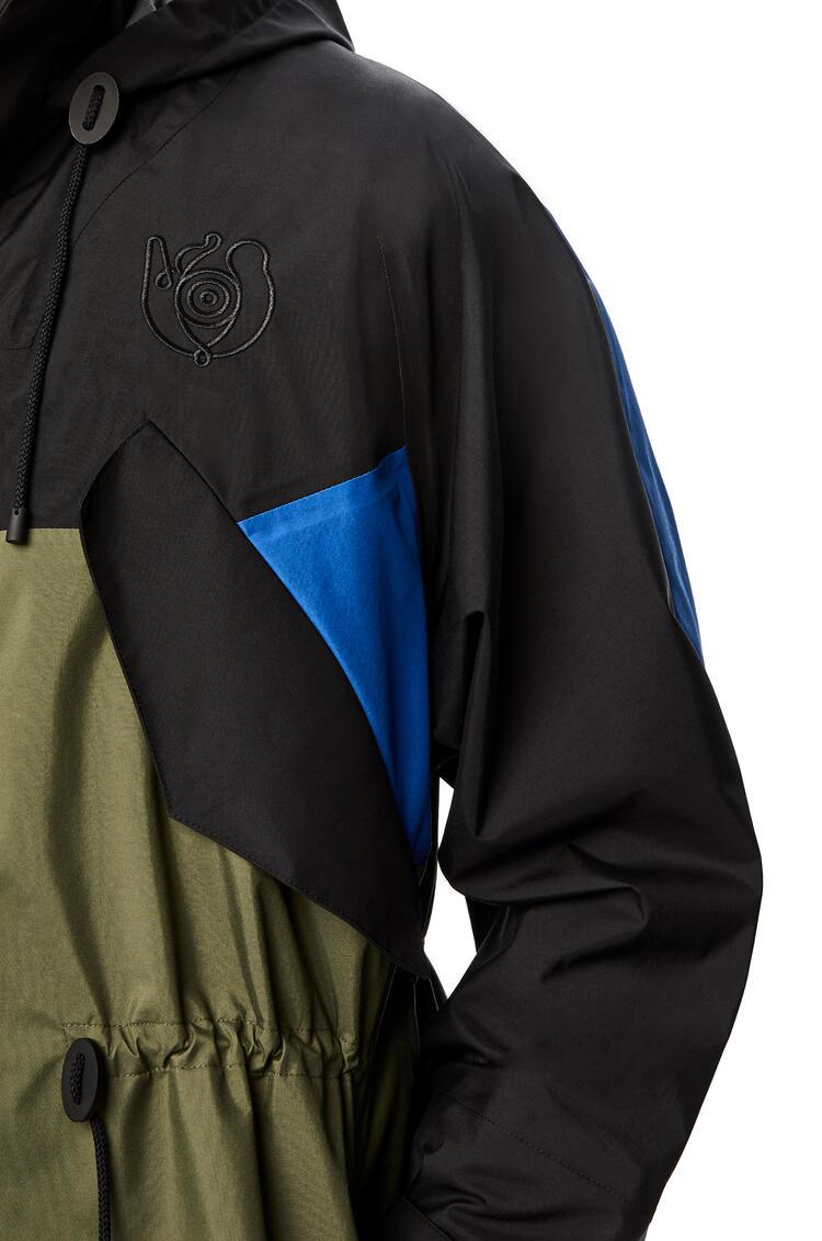 LOEWE Parka in nylon Black/Khaki Green pdp_rd