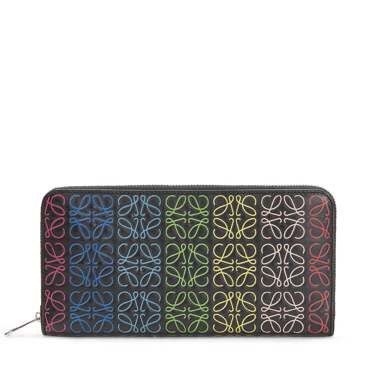 LOEWE Repeat Zip Around Wallet Black/Multicolor front
