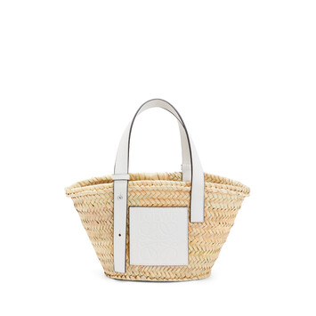 LOEWE Basket Small Bag Natural/White front