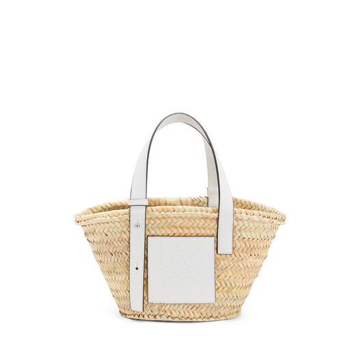 LOEWE Basket Small Bag Natural/White front