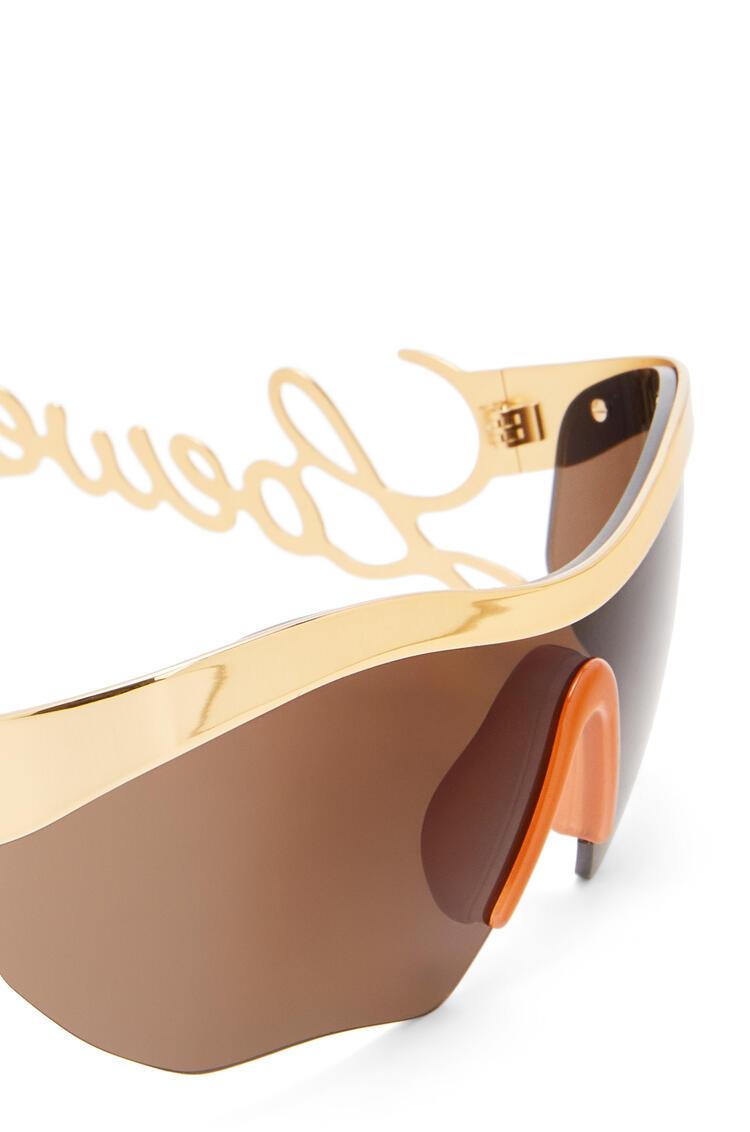 LOEWE Logo mask sunglasses 金色/咖啡色 pdp_rd