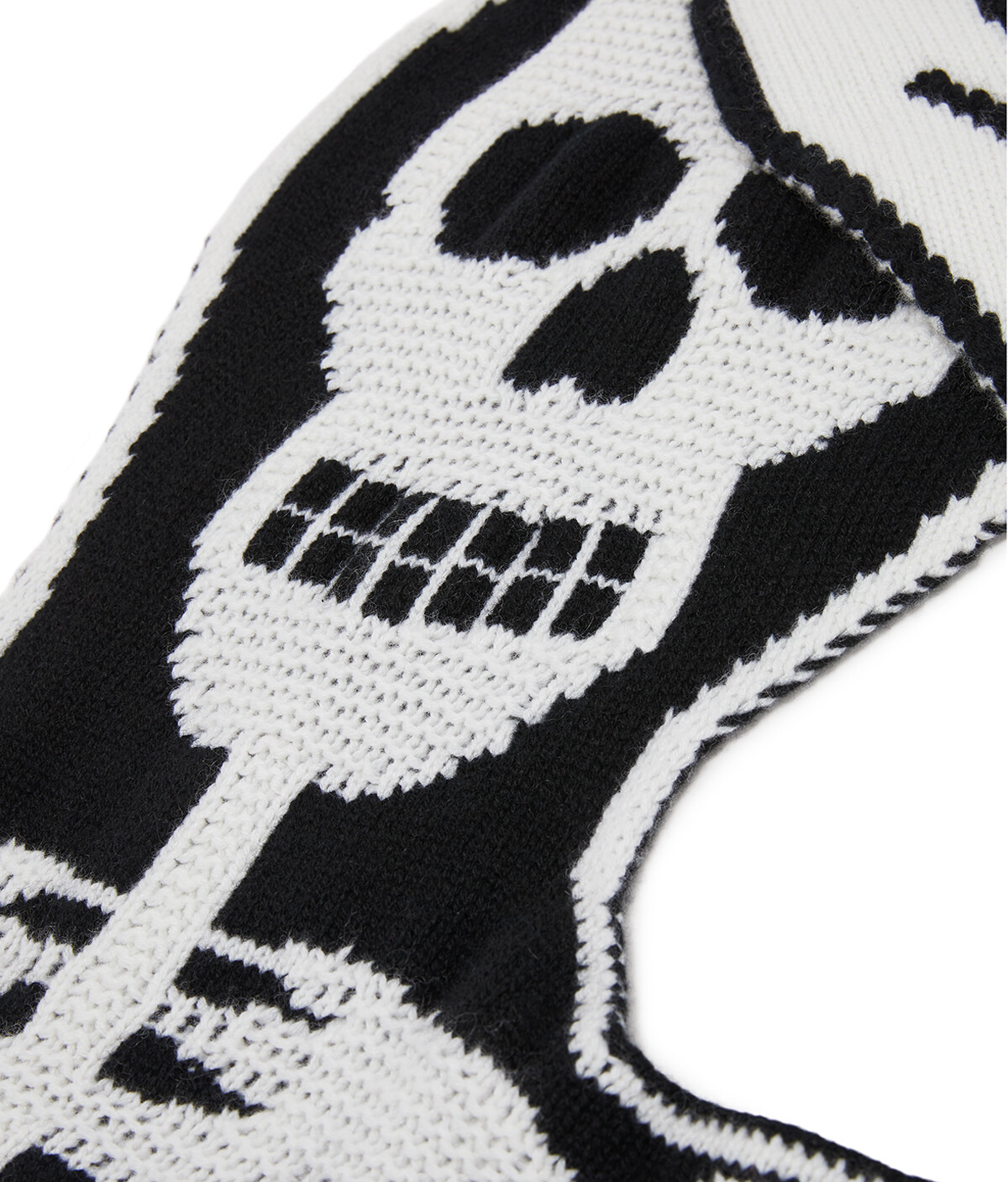 LOEWE 120X200 Knit Scarf Skeleton White/Black front