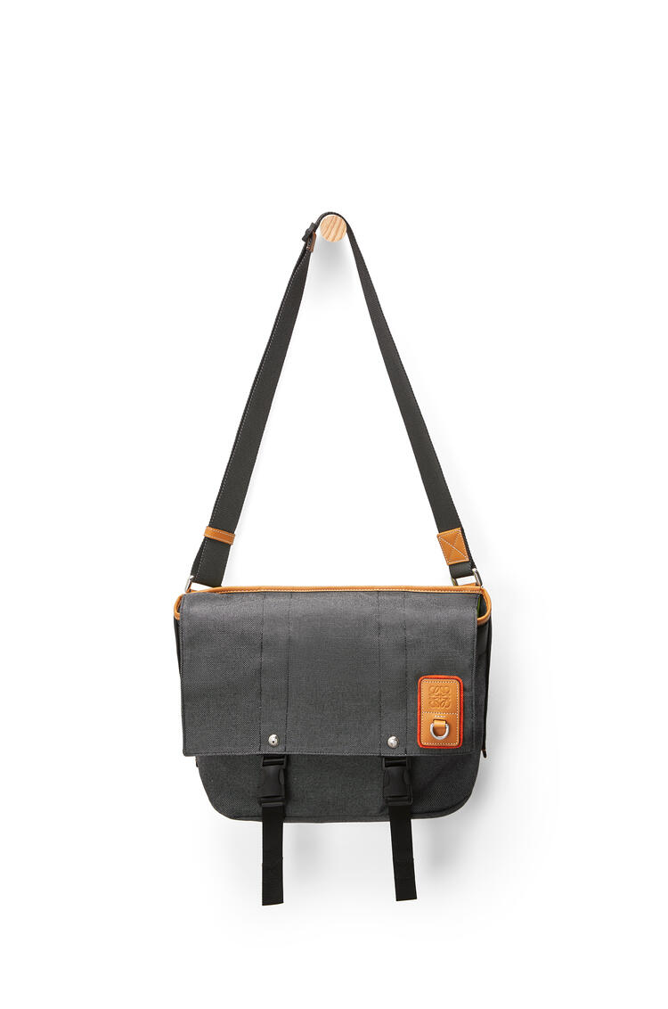 LOEWE Small Messenger bag in canvas Black pdp_rd