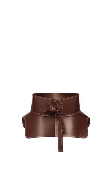 LOEWE Obi belt in nappa Dark Brown pdp_rd