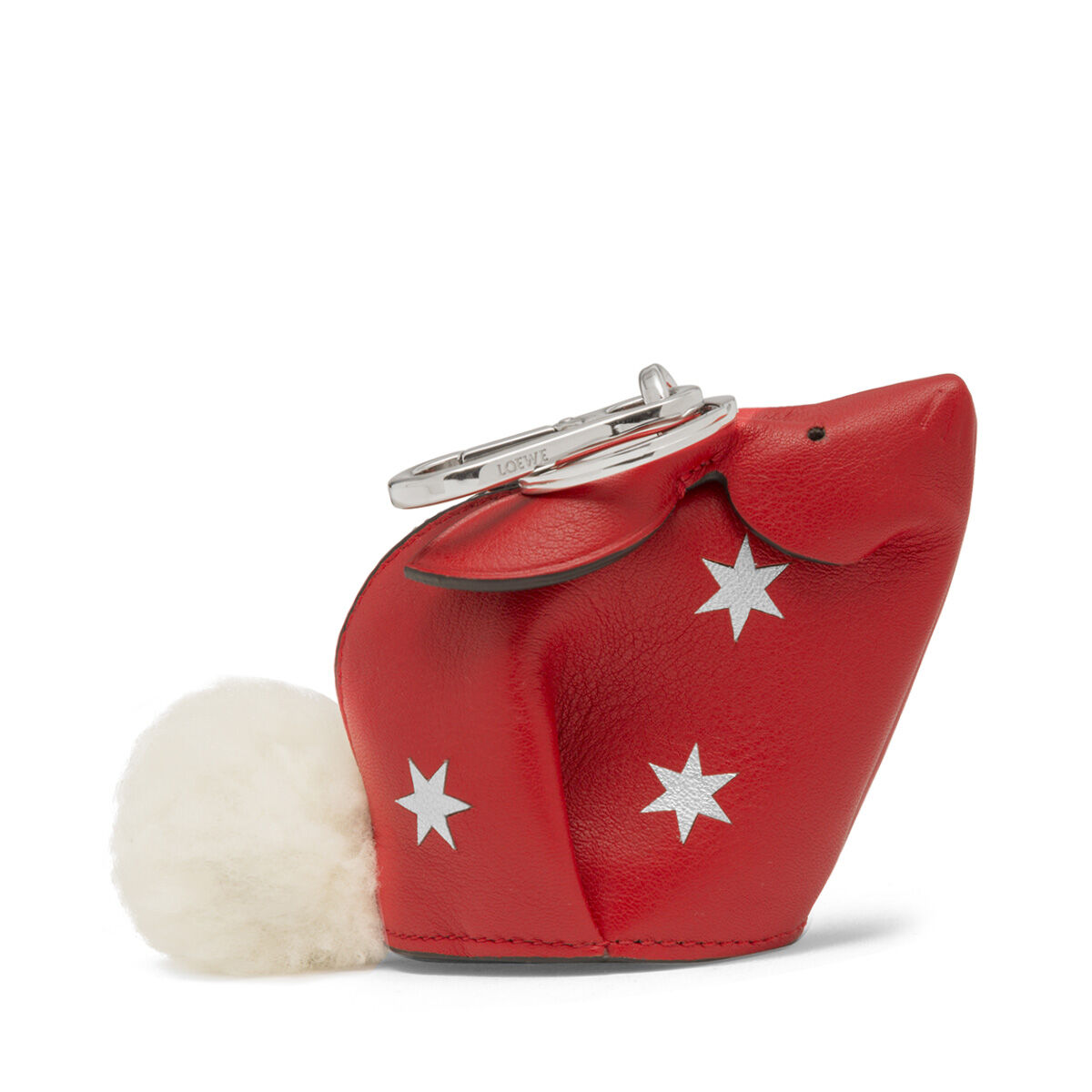 LOEWE Charm Conejo Estrellas Rojo Escarlata/Plata all