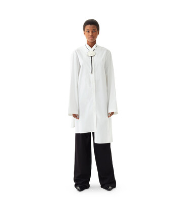 LOEWE Ov Asymmetric Shirtdress White front