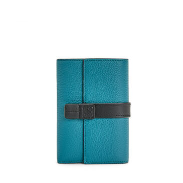 LOEWE Small vertical wallet in soft grained calfskin Dark Lagoon pdp_rd