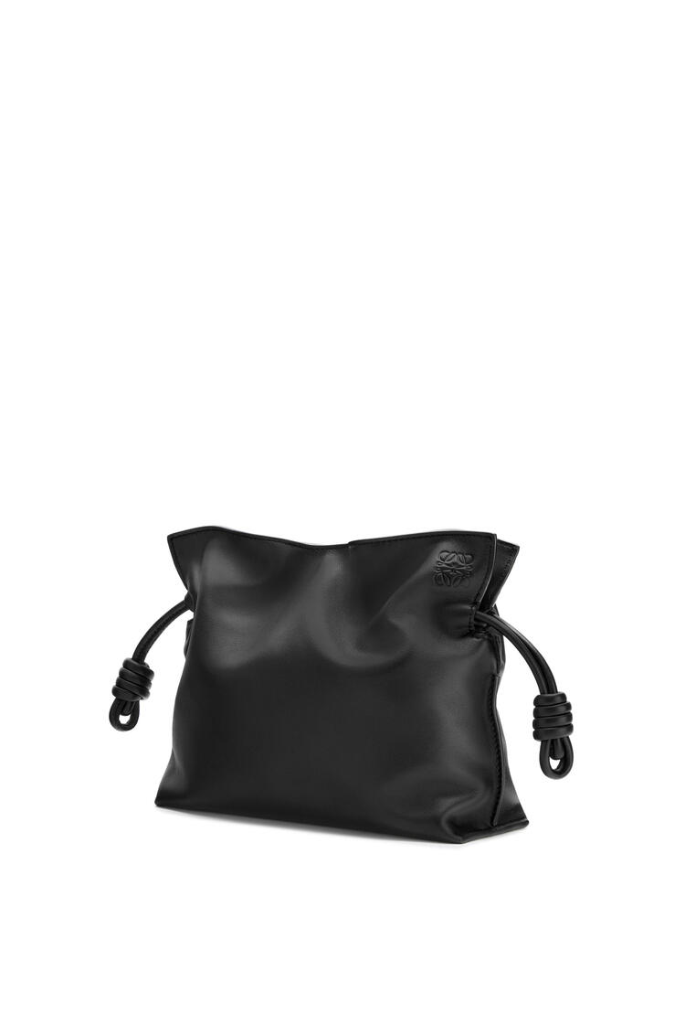 LOEWE Mini Flamenco clutch in nappa calfskin Black pdp_rd