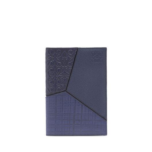LOEWE パズル パスポート カバー ネイビーブルー front