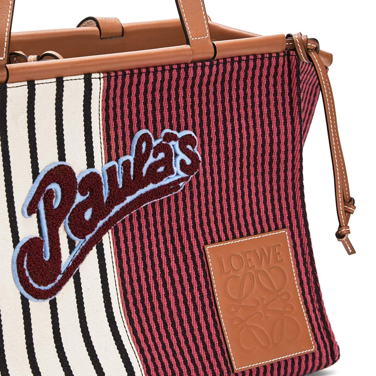 LOEWE Paula's Cushion Tote Stripes Red/White front
