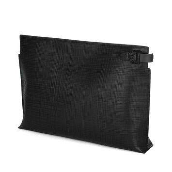 LOEWE T Pouch Linen 黑色 front