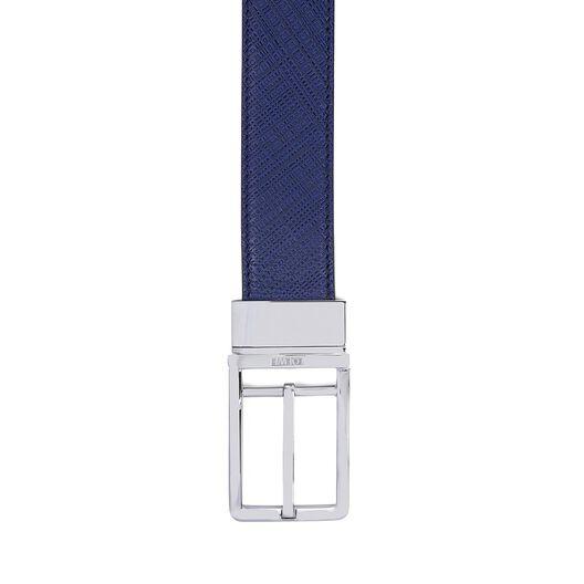 LOEWE Formal Belt 3.2Cm Adj/Rev Navy Blue/Black/Palladium front