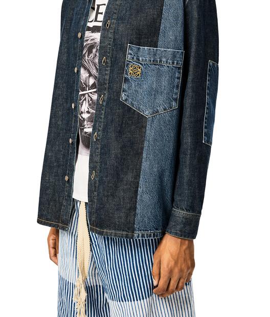 LOEWE Patch Pocket Denim Shirt Indigo front