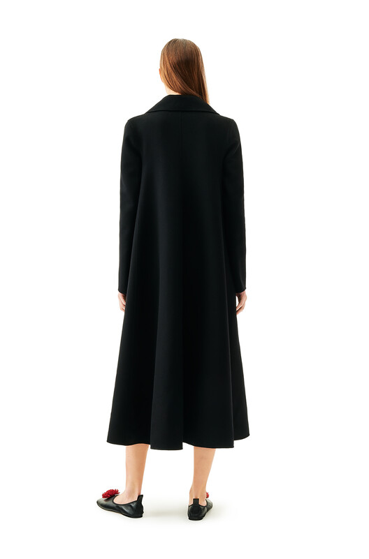 LOEWE Double-Breasted Coat Black front