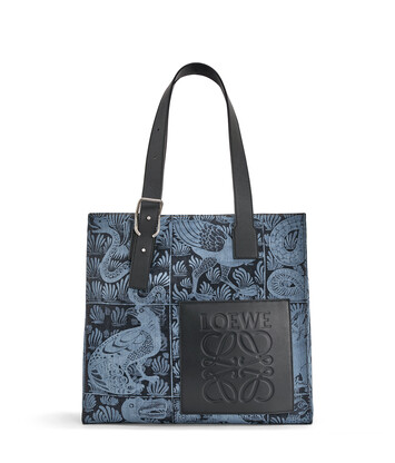 LOEWE Buckle Tote Tiles Bag Indigo/Black front