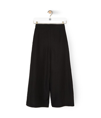 LOEWE Culotte Trousers ブラック/ホワイト front
