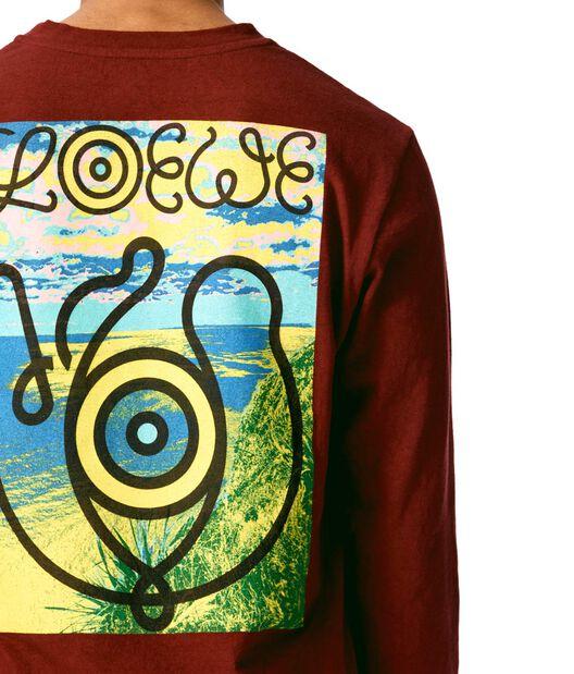 LOEWE Long Sleeve T-Shirt Loewe Eye Burgundy front