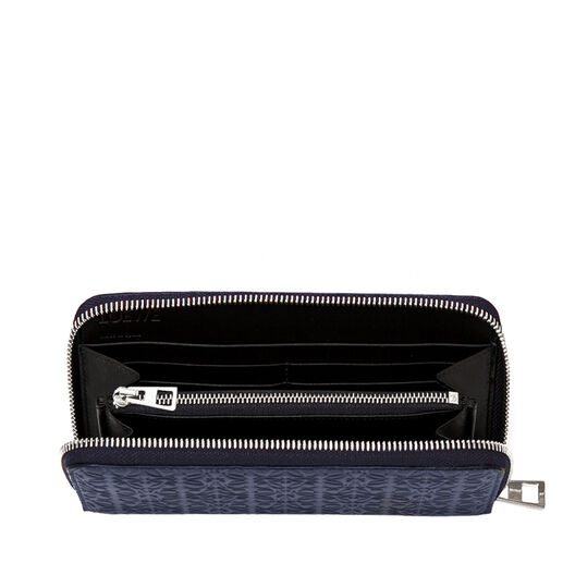 LOEWE Zip Around Wallet Navy Blue all