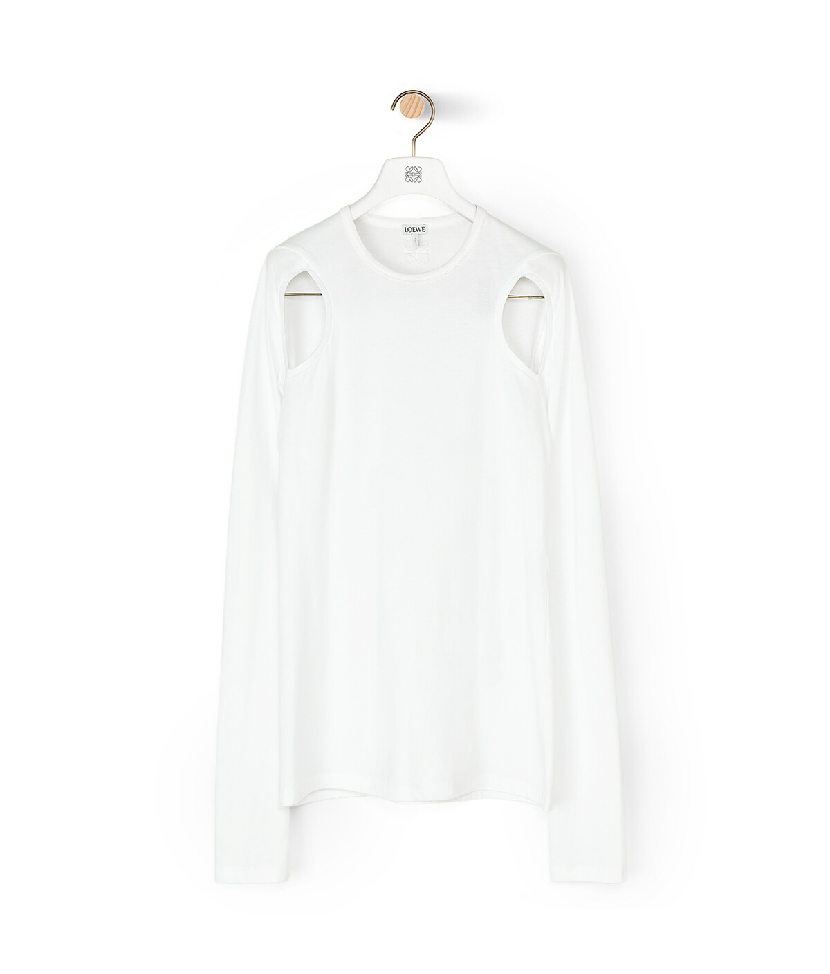 LOEWE Cut Out Long Slv T-Shirt White front