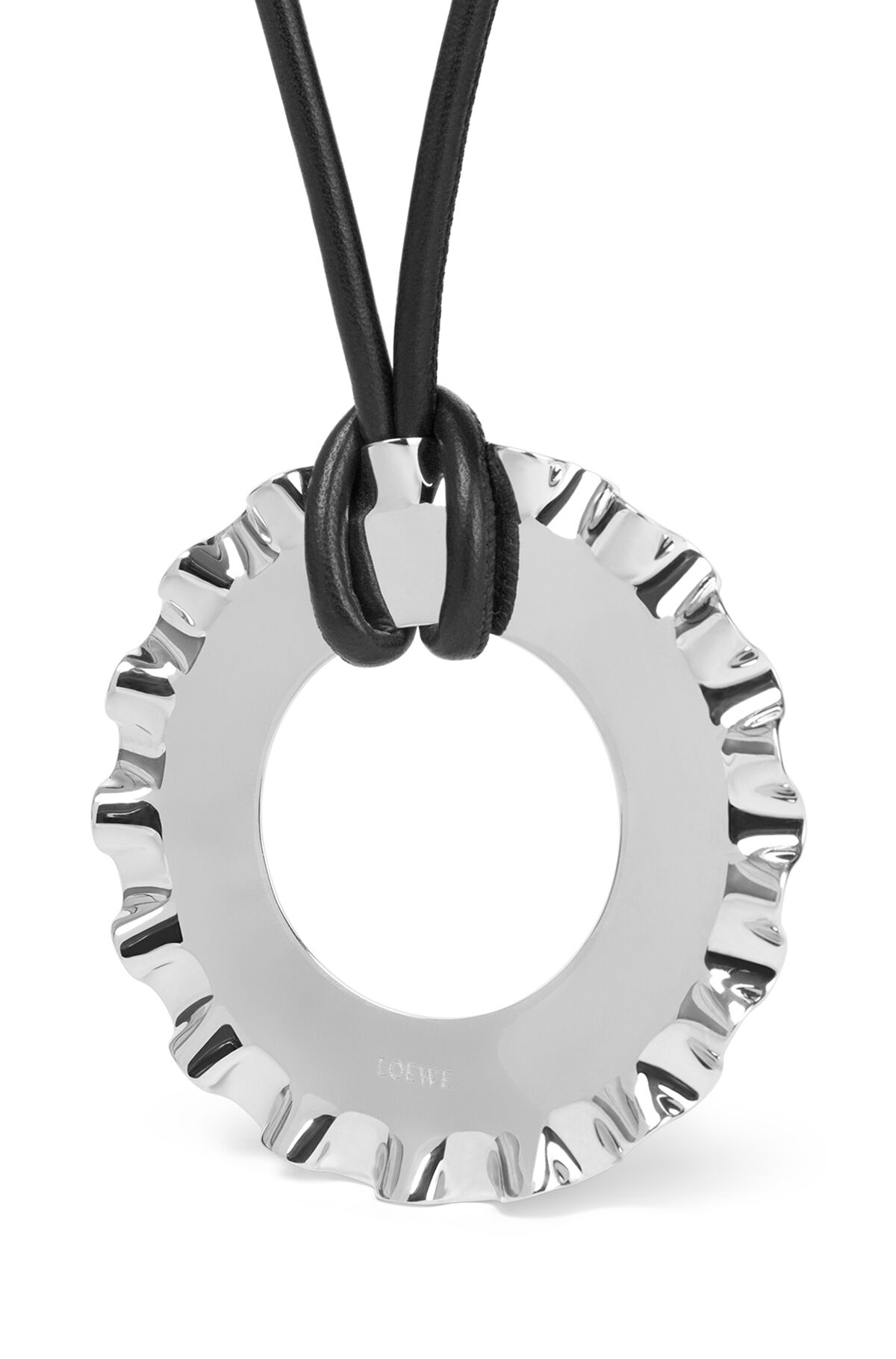 LOEWE Frills Necklace Palladium front