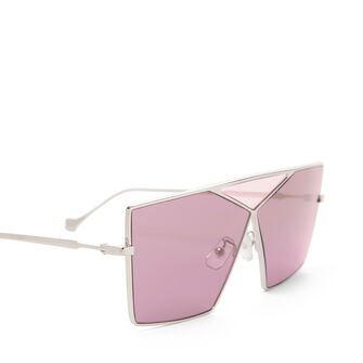 LOEWE Square Puzzle Sunglasses Pale Gold/Burgundy front